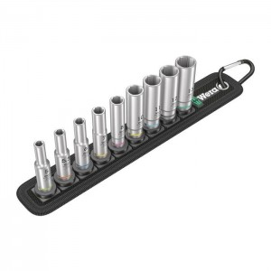 Wera 05004525001 Belt A Deep 1 6point socket set 1/4in., 9pcs.