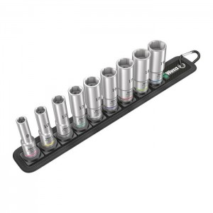 Wera 05004545001 Belt B Deep 1 6point socket set 3/8in., 9pcs.
