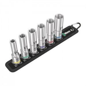 Wera 05004565001 Belt C Deep 1 6point socket set 1/2in., 6pcs.