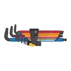 Wera 05022640001 L-key set Hex-Plus Multicolour Imperial 2 950/9, 9pcs.