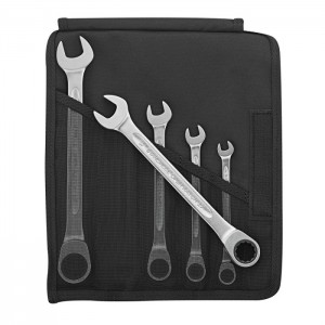 Stahlwille 96401705 Ratcheting combination spanner set Open-Ratch 17F/5 5pcs., 8 - 19 mm