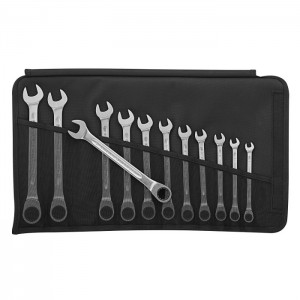 Stahlwille 96401712 Ratcheting combination spanner set Open-Ratch 17F/12 12pcs., 8 - 19 mm