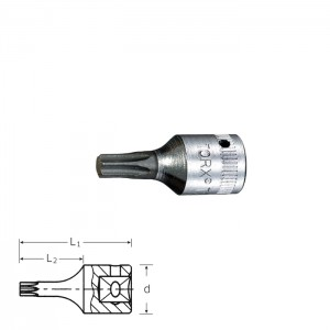 Stahlwille 01350040 TORX®-Screwdriver socket 44 KTX T40, T40