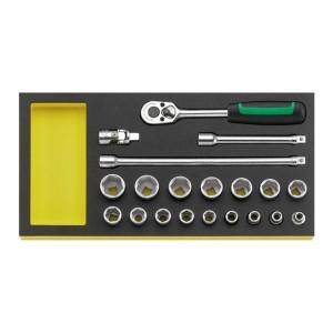 Stahlwille 96830357 Socket set TCS 456/16/4 MF, 20pcs.