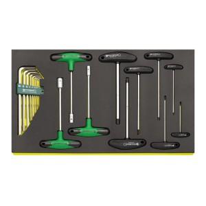 Stahlwille 96830621 T-handle tool set TCS 10765/10768/12507/19, 19pcs.