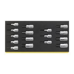 Stahlwille 96838762 Screwdriver socket set TCS 54/54X/16, 16pcs