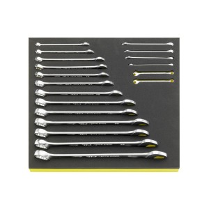 Stahlwille 96838778 Combination spanner set TCS 13a/19, 19pcs.