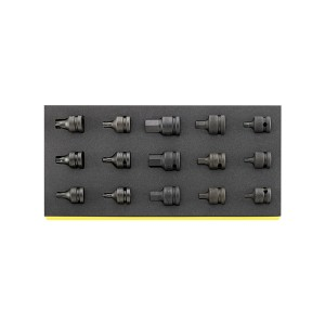 Stahlwille 96838792 Impact Screwdriver socket set TCS 54IMP/2307TX/15, 15pcs.