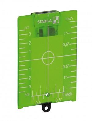 STABILA 17924 MPZP ZP target plate, green