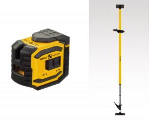 STABILA 18482 MPLAX300 LAX 300 cross line plus plumb point laser, 5-piece set