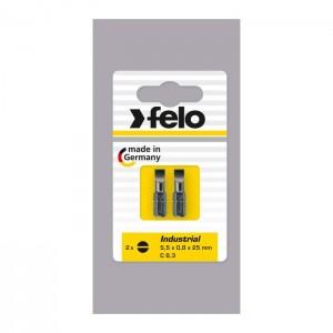 Felo 2041036 Bit, Industry C 6,3 x 25mm, 2 pcs on card