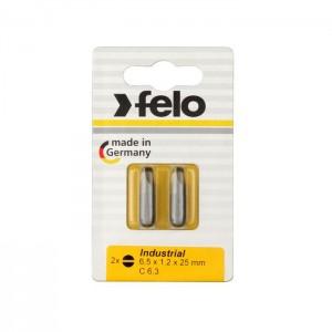 Felo 2061036 Bit, Industry C 6,3 x 25mm, 2 pcs on card