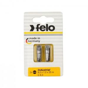 Felo 2080036 Bit, Industry C 6,3 x 25mm, 2 pcs on card