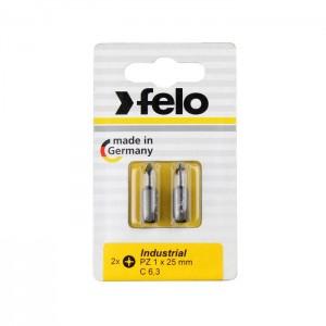 Felo 2102036 Bit, Industry C 6,3 x 25mm, 2 pcs on card