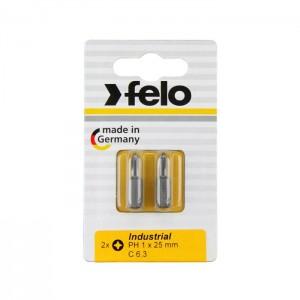 Felo 2202036 Bit, Industry C 6,3 x 25mm, 2 pcs on card