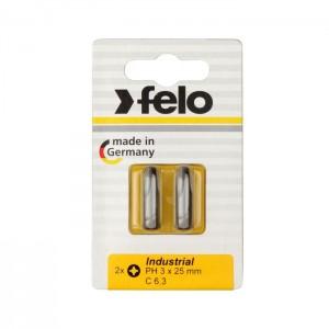 Felo 2203036 Bit, Industry C 6,3 x 25mm, 2 pcs on card