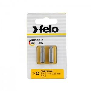 Felo 2460036 Bit, Industry C 6,3 x 25mm, 2 pcs on card