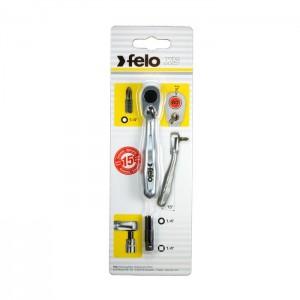 Felo 5763501 Mini ratchet, on card