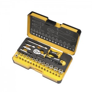 "Felo 5783616 Tool set R-GO XL 1/4"" with ERGONIC ratchet, bits, sockets and accessories, 36-pce"