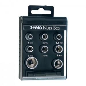 "Felo 5798106 1/4"" Nut Box, 9-pce"
