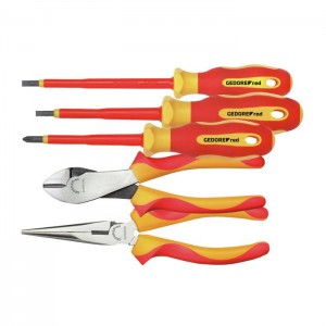 GEDORE-RED VDE-tool set 2xpliers+PH+SL 5pcs (3301414)
