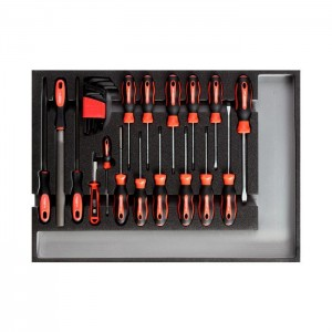 GEDORE-RED Tool set screwdr.+files CT-module 26pcs (3301683)