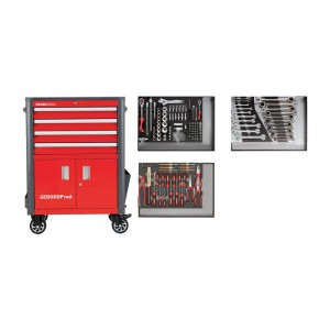 GEDORE-RED Tool set in t.trolley WINGMAN red 129pcs (3301689)