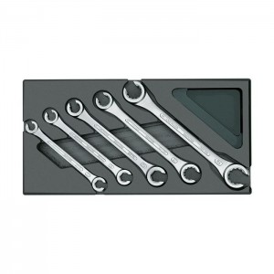 GEDORE Set of open flare nut spanners in 1/3 ES tool module (1731157)