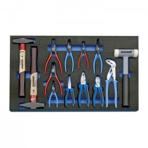 GEDORE Tool assortment in Check-Tool-module, 13 pcs (2016303)