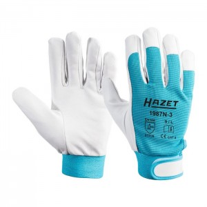 HAZET 1987N-3 Working gloves made of genuine leather, size L