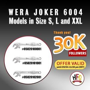 Wera self-setting spanner set Joker 6004, 3pcs.