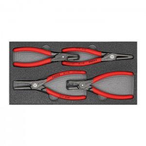 "Circlip Pliers Set ""SRZ II"" Four precision circlip pliers in a foam tray"