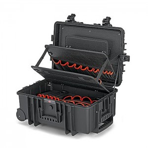 "Tool Case ""Robust45"" with integrated rollers and telescopic handle empty"