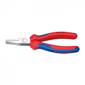 Flat Nose Pliers black atramentized with multi-component grips 140 mm