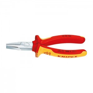 Flat Nose Pliers chrome plated 160 mm