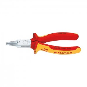 Round Nose Pliers chrome plated 160 mm