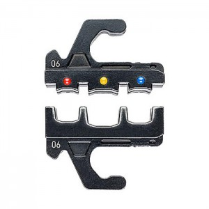Crimping dies for insulated terminals, plug connectors and butt connectors