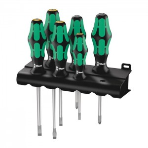 Wera 334/355/6 Rack screwdriver set Kraftform Plus Lasertip and rack, 6 pieces (05105656001)