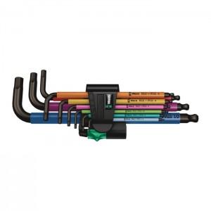 Wera 950/9 Hex-Plus Multicolour 1 SB Multicolour L-key set, metric, BlackLaser, 9 pieces (05073593001)