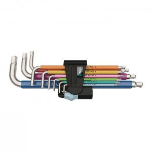 Wera 3950/9 Hex-Plus Multicolour Stainless 1 L-key set, metric, stainless, 9 pieces (05022669001)