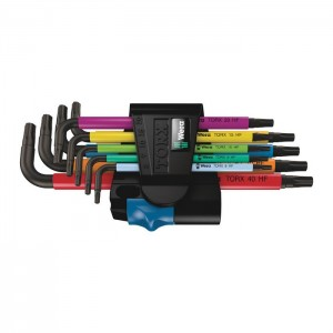 Wera 967/9 TX Multicolour HF 1 L-key set with holding function, 9 pieces (05024179001)
