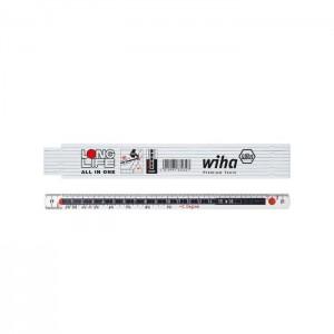 Wiha Folding ruler Longlife All in One 2 m metric, 10 segments (33232) white