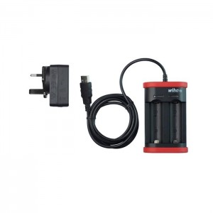 Wiha Charger for 18500 Li-ion batteries with USB and UK plug (42766)