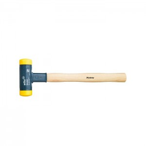Wiha Soft-faced hammer dead-blow with hickory wooden handle, round hammer face (02092)