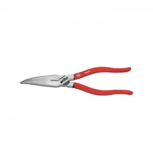 Wiha Classic needle nose pliers with cutting edge curved shape, approx. 40° (26723) 160 mm