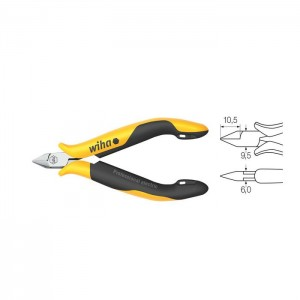 Wiha Diagonal cutters Professional ESD narrow, pointed head without bevelled edge (33521) 115 mm