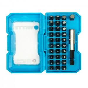 PRO BITBOX PHILLIPS 1-3/ POZIDRIV 1-3/ TORX 10-40 1/4 inch X25MM incl. Bitholder /1/4 inch adapter, 32-pcs. set