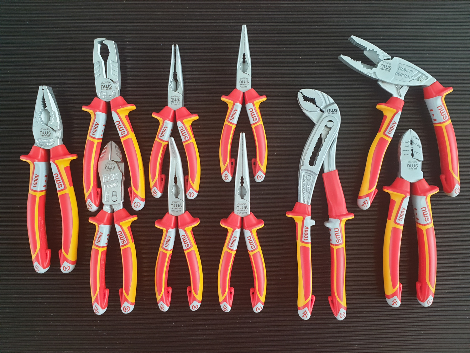 NWS 00-49-VDE-10 Mixed Electrician pliers set, 10pcs