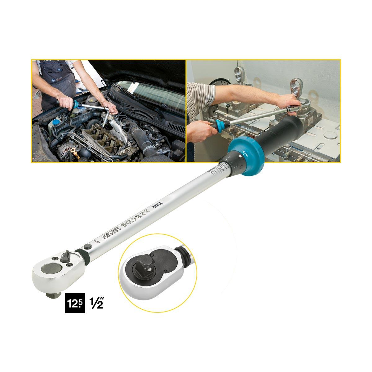 hazet 5122 2ct torque wrench with ratchet 40 200 nm. Black Bedroom Furniture Sets. Home Design Ideas