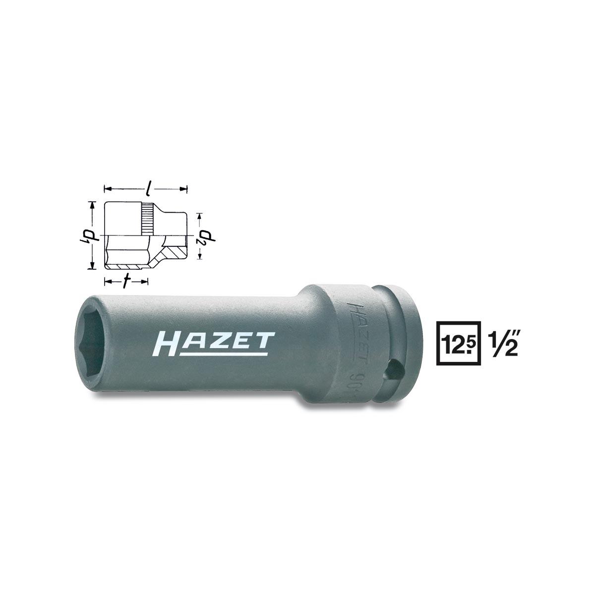 HAZET Impact 6point socket 901SLg, size 17 - 21 mm